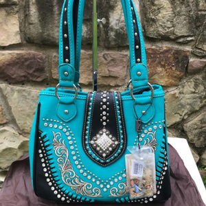 Montana West Concealed Carry Turquoise Handbag